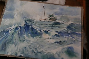 Marko's father painted this watercolor.